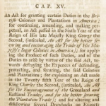 Sugar and Molasses Act of 1733 – Original Text